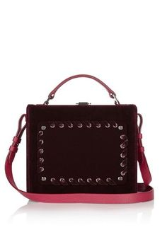 Marie Antoinette Bordeaux Velvet Box Bag By Meli Melo Melimelo Handbags