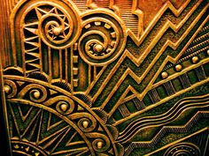 Art Deco metal design