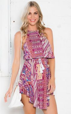 Instant Karma Dress in Purple Print | SHOWPO Fashion Online Shopping