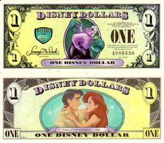 Disney Dollars The Little Mermaid & Ursula Good vs. Disney Play, Arte Disney, Disney Magic, Disney Art, Disney Dream, Disney Girls, Disney Money, Disney Time, Disney Stuff