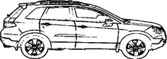 Acura RDX Coloring Page - Acura car coloring pages