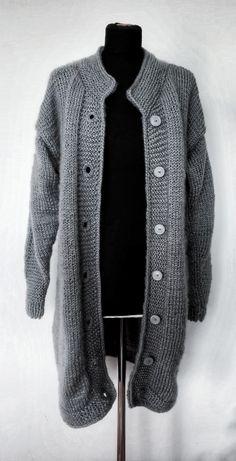 #long #gray #wool # sweater