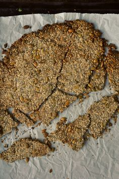 "Seedy Oat Crackers ""the guiltless cracker"" Test Kitchen, Crackers, Banana Bread, Survival, Snacks, Breakfast, Healthy, Holiday, Desserts"