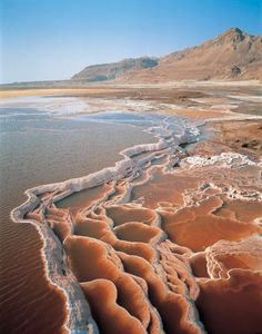 Dead sea- Israel: interesting configurations of salt & water. Nature can amaze!