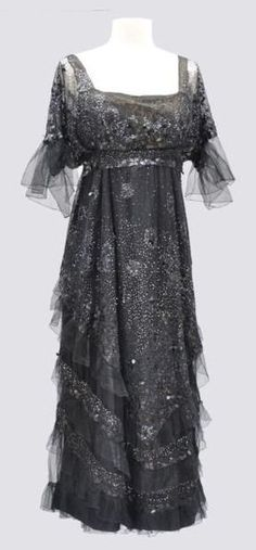 Worth sequined evening gown sold at Auction Eve, ca. 1915
