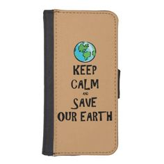 "Show your commitment to the environment with ""Keep Calm and Save Our Earth"" cellphone case. Perfect for Earth Day or any day. Fat Cat Graphics offers products that display your compassionate, eco-friendly, green, ecological point of view. If there's something else you'd like to see here, feel free to message me. Peace."