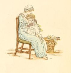 Little Ann, a book by Kate Greenaway 1880 - Plate 28