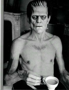 The best photograph of Boris Karloff drinking a cup of tea that you will ever see...