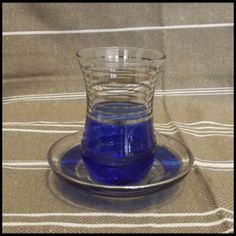 Grand Bazaar Shop - Blue and Gold Tea Glass