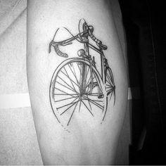 My bike tattoo by Galya Gisca More #biketattoo