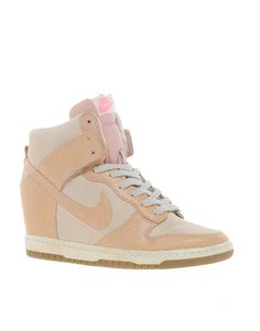 Neutral Nike Dunks. These would be cute for a casual day look with jeans and a white tee. Or be bold and try them with a dress.