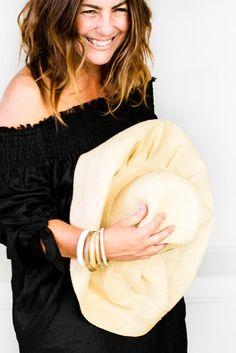 Kara Rosenlund, Raffia Hat, Brim Hat, Hat Making, Beach Trip, Frocks, Bell Sleeve Top, Lifestyle, My Style