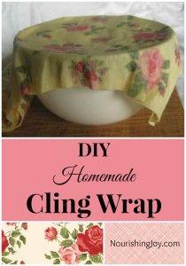 DIY Homemade Cling Wrap | NourishingJoy.com
