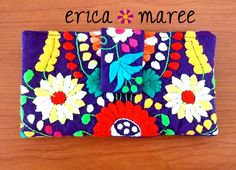Chantel Mexican Embroidered Wallet Purple