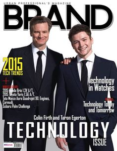 Brand Magazine The Technology Issue Colin Firth and Taron Egerton (KINGSMAN)