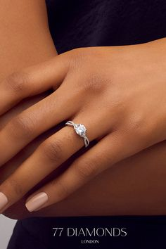 Shine in the Pirouette engagement ring! A intricate diamond band and matching round stone. Big Engagement Rings, Cushion Cut Engagement Ring, Platinum Engagement Rings, Tiffany Engagement, Classic Wedding Rings, Diamond Bands, Beautiful Rings, Ring Designs, Proposal Ring