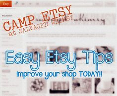 Camp Etsy: Free Tools from Craft Cult Business Design, Creative Business, Business Tips, Online Business, Sell On Etsy, My Etsy Shop, Camping Crafts, Camping Ideas, Things To Know