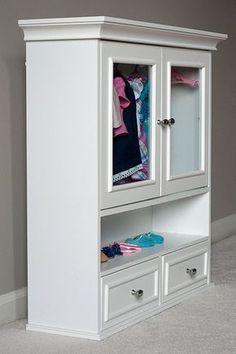 Bathroom Cabinet Doll Clothes Wardrobe Storage