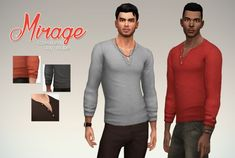 Mirage Henley Shirt by Rope at Simsontherope • Sims 4 Updates