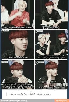 While KaiSoo share a very loving relationship, ChanSoo is a very violent, errr, I mean passionate one.