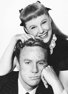 Van Johnson and June Allyson in a publicity still for Too Young to Kiss (1951).