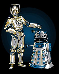 Cyber3po And R2dalek<--- I don't know whether this should go on my Star Wars board or my Doctor Who board!