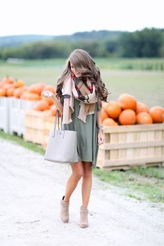 Swing dresses with ankle booties are one of my favorite fall fashion trends this year!