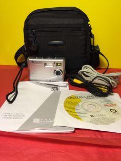 Oregon Scientific Gray Thincam Digital Camera Carrying Case Cords | eBay