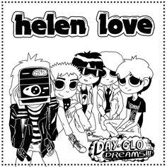 "Helen Love ""Day-Glo Dreams"" July 2013 #ElefantRecords #HelenLove #IndiePop #PopMusic #AlbumCover"