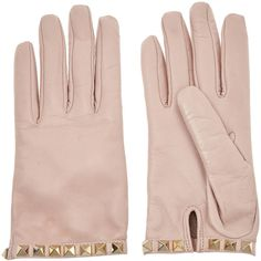 Valentino Studded leather gloves found on Polyvore