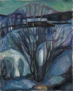 Edvard Munch, Invierno, 1922-26. Óleo sobre lienzo, 100x 80, Museo Munch, Oslo