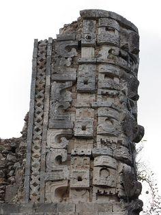 Uxmal detail, Mexico