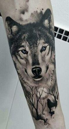 Wolf Tattoo Forearm, Tribal Wolf Tattoo, Wolf Tattoo Sleeve, Tribal Sleeve Tattoos, Wolf Tattoo Design, Skull Tattoo Design, Tiger Tattoo, Tattoo Designs, Chest Tattoo