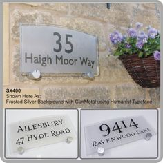 SX400 House Address Plaque Modern Glass Acrylic Address Signs for the Home by De-signage