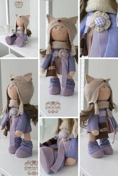 Winter doll Tilda doll Art doll handmade by AnnKirillartPlace