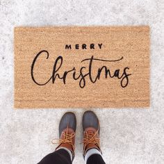 It's the most wonderful time of the year! Get your porch Christmas-ready with this Christmas Doormat, Christmas Porch, Christmas Banners, Christmas Decorations, Christmas Ideas, Cosy Christmas, Black Christmas, Christmas Stuff, Christmas Crafts