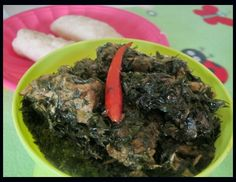 Afang Soup also known as Eru or Okazi Soup