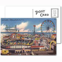 Playland Wildwood by the Sea Postcard