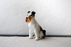 Little Porcelain Scotty Schnauzer Terrier Pup by tearinguphouses
