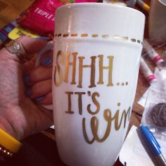 Metallic porcelain painted mug