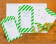 For a kid's birthday - #DIY #Printable seed packet invitations for garden themed party