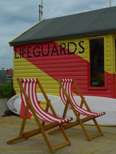 Handpainted sign for Life Guards