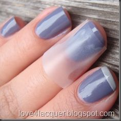 French tips - I do this everytime for crisp lines BUT use painters tape instead because it comes off cleaner. I found that scotch tape leaves a sticky residue & tears leaving bits on my nails.