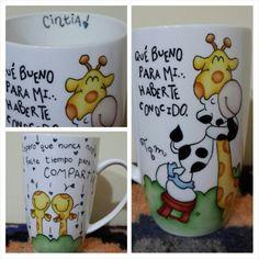 Realizado con plumin y pintado a mano doña taza / Facebook