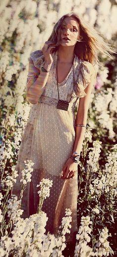 Boho dot dress