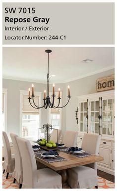 Dining Room Paint Colors, Farmhouse Paint Colors, Kitchen Paint Colors, Living Room Paint, Living Room Grey, Bedroom Colors, Bedroom Neutral, Gray Bedroom, Paint Colours