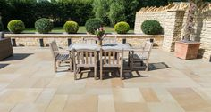 View our stunning range of Exterior Stone Paving tiles. Unique limestone paving transforms your garden and patio. Choose natural beauty with stone paving. Paving Slabs, Paving Stones, Limestone Tile, Outdoor Furniture Sets, Outdoor Decor, Stone Flooring, Rustic Style, Natural Stones, Home And Garden