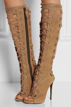 Kadınların 35-42 boyutunu diz sandaletler üzerinde 2015 moda yüksek topuklu çizmeler gladyatör uyluk yüksek ayakkabılar dantel