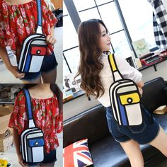 Japanese-style #Women 3D Jump Style 2D Drawing From #Cartoon Paper #Comic #Backpack Bag #Satchel Chest Pack Pocket