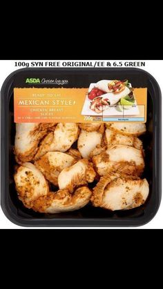 asda& chosen by you mexican style chicken breast slices - syn free. Slimming World Free Foods, Slimming World Syn Values, Slimming World Chicken Recipes, Slimming World Recipes, Sliming World, Syn Free, Mexican Style, Lunches And Dinners, Healthy Eating